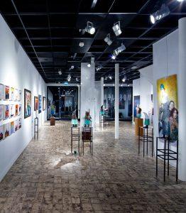 Galerie met hedendaagse kunst